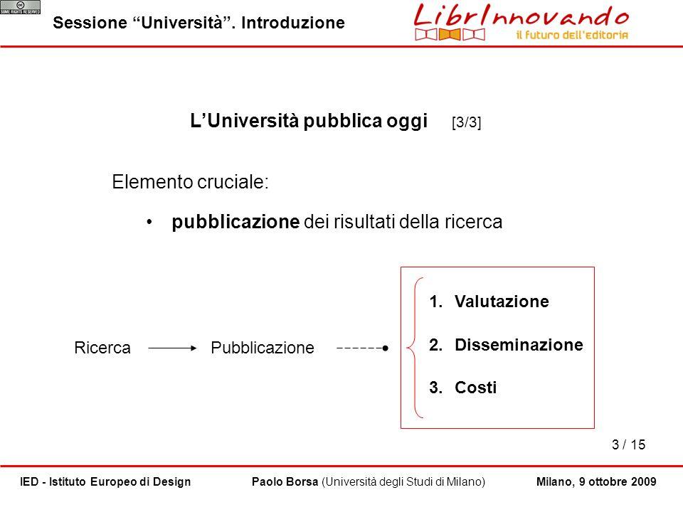 L'Università pubblica oggi [3/3]